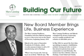 Building Our Future - April 2019 Newsletter