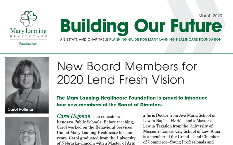 Photo of Building Our Future - March 2020 Newsletter