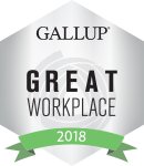 Gallup Great Workplace Award Winner 2018