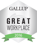 Gallup Great Workplace Award Winner 2016