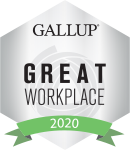 Gallup Great Workplace Award Winner 2020